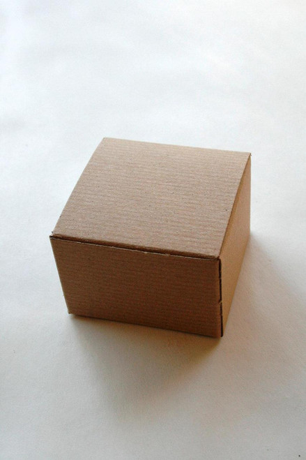 Brown Kraft Gift Boxes DIY - Perfect with Twine or Deco Tape - Packaging - 3 x 3 x 2 Inches