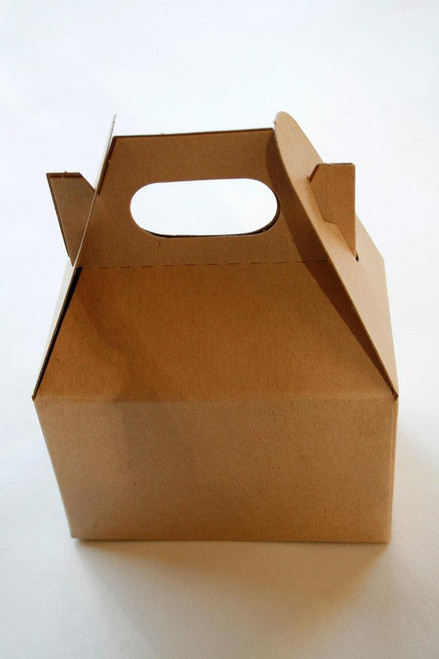 Brown Kraft Mini Gable Boxes - Perfect with Twine or Deco Tape - Packaging - 4 x 2.5 x 2.5 Inches
