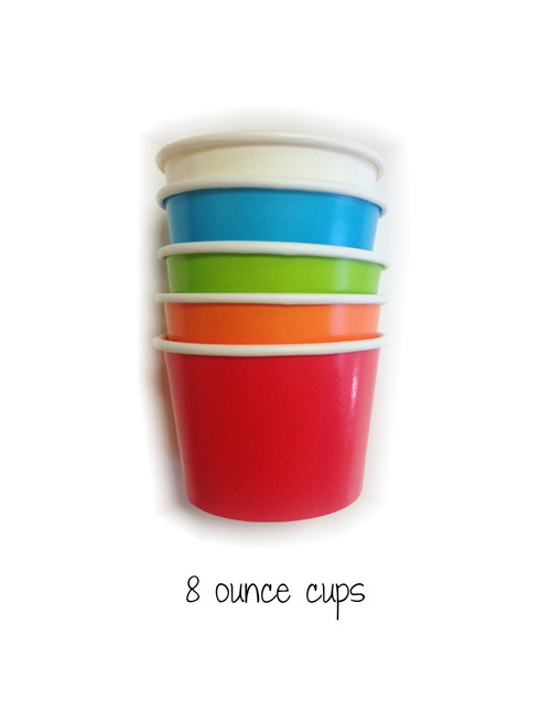 Ice Cream Cups - 8 Ounce Size Paper Cups