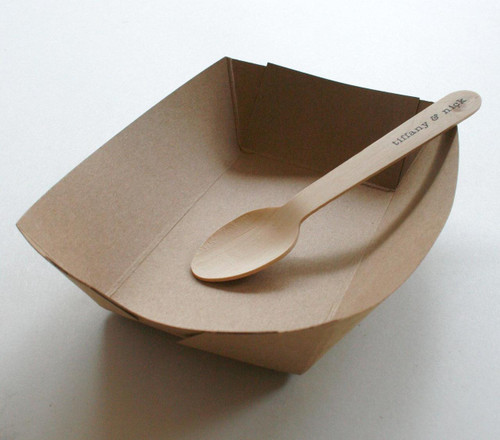 Brown Kraft Paper Serving Trays - Biodegradable
