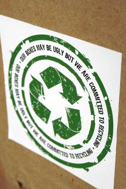 """Recycle """"Ugly"""" Boxes Sticker - 3 x 3 Stickers - Glossy UV"""