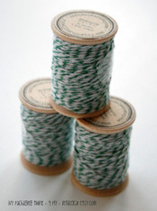 Packaging Twine - Ivy Green - 30 Yards on Wooden Spool