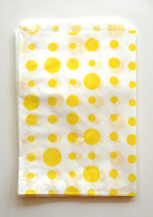 Traditional Sweet Shop Random Dots Paper Bag - Yellow Dots