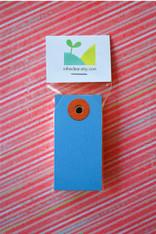 Mini Shipping Paper Tags - 1.375 x 2.75 - Dark Blue