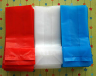 Extra Small Frosted Grocery Bags - 3 x 2 x 7 Inches - Your Choice of One Color - Available in Red White Blue