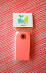Mini Shipping Paper Tags - 1.375 x 2.75 - Pink