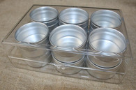 Clear Storage Solution - 12 Round Tins in Heavy Plastic Case