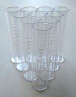 Printed Clear Tubes and Corks - Love is Sweet White Printing - Candy Favor - Wedding - Party