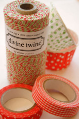 Divine Twine Baker's Twine - Red and Green - Christmas