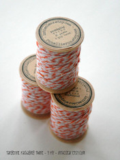 Packaging Twine - Tangerine - 30 Yards on Wooden Spool