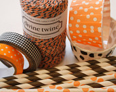 Divine Twine Baker's Twine - Orange and Black - Halloween