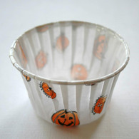 Halloween Design Nut or Portion Paper Cups - Orange and Pumpkin