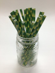 Bamboo Theme Paper Drinking Straw - made in USAs