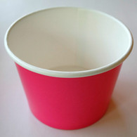 Ice Cream Cups Hot Pink 12 oz. Paper