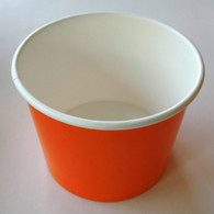Ice Cream Cups Orange 12 oz. Paper