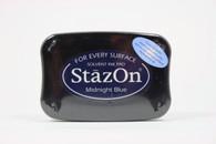 Tsukineko Stazon Solvent Ink Pad - Midnight Blue