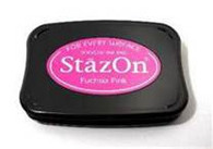 Tsukineko Stazon Solvent Ink Pad - Fuchsia Pink