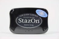 Tsukineko Stazon Solvent Ink Pad - Stone Grey
