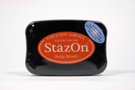 Tsukineko Stazon Solvent ink Pad - Rusty Brown