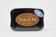 Tsukineko Stazon Solvent Ink Pad - Saddle Brown