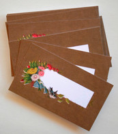 Packaging and Gift Cards - Vintage Antique Bird and Floral DesignTags