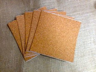 Cork Sheets - 6 x 6 inch Adhesive Backed
