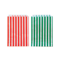 Holiday Striped Bags Green/Red Mix