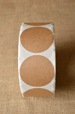 Sticker - Round Brown Kraft  -  Sizes 1.5 to 3.5 inch