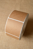 Sticker - Square Brown Kraft - Various Sizes