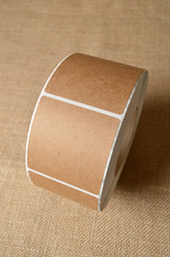 Sticker - Square Brown Kraft - Various Sizes