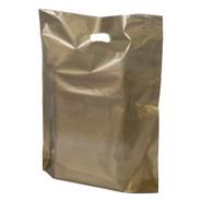 Metallic Gold Plastic Merchandise Bag