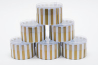 Favor or Storage Boxes - Clear Lids and Bottoms - Plastic - Gold Striped