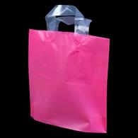 Pink Flexi-Loop High Density Plastic Handle Bag