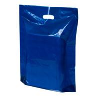 Navy Blue Plastic Merchandise Bag