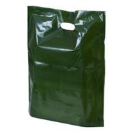 Hunter Green Plastic Merchandise Bag