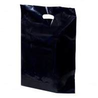Black Plastic Merchandise Bag