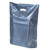 Metallic Silver Plastic Merchandise Bag