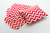 Pillow Boxes - Red Chevron 3 1/2 x 3 x 1 Inches