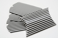 Pillow Boxes - Black Stripe 3 1/2 x 3 x 1 Inches