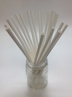 White Paper Drinking Straws - Extra Long - made in USA
