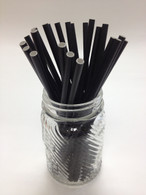 Solid Black Paper Drinking Straws - made in USA