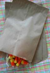 Brown Kraft Flat Merchandise Bags - 9 7/8 x 12 3/8 Inches