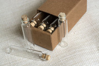 Tiny Clear Glass Vials with Corks - 5ml