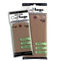 Tim Holtz Ranger Inkssentils Surfaces Craft Tags No. 5 size Kraft