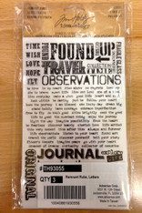 Tim Holtz Idea-Ology Remnant Rubs - Words