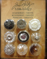 Tim Holtz Idea-Ology Accoutrements- Fanciful  9 buttons