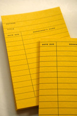 LIbrary Cards - Yellow  Great for Scrapbooking or mixed media.  Pictures show both front and back.