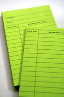 Library Cards for Scrapbooking - GREEN
