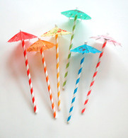 Drink Parasols - Umbrella Picks - Pack of 12 - 6 colors