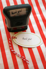 Extra Large Red Rubber Stamp - Mr. & Mrs.